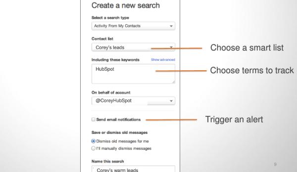hubspot social inbox, lead tracking smart lists