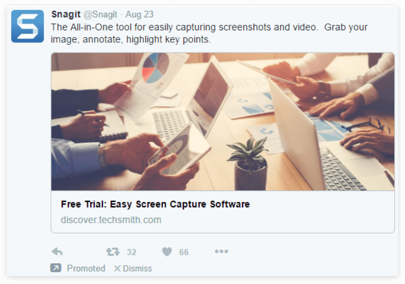 Twitter promoted post