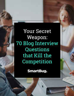 70 Blog Interview Questions that Kill the Competition