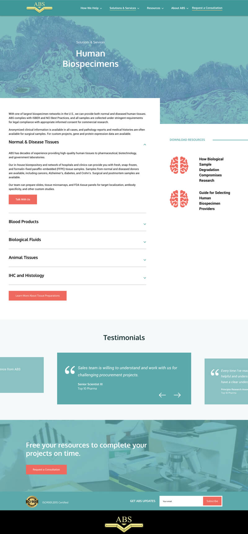 ABS website design