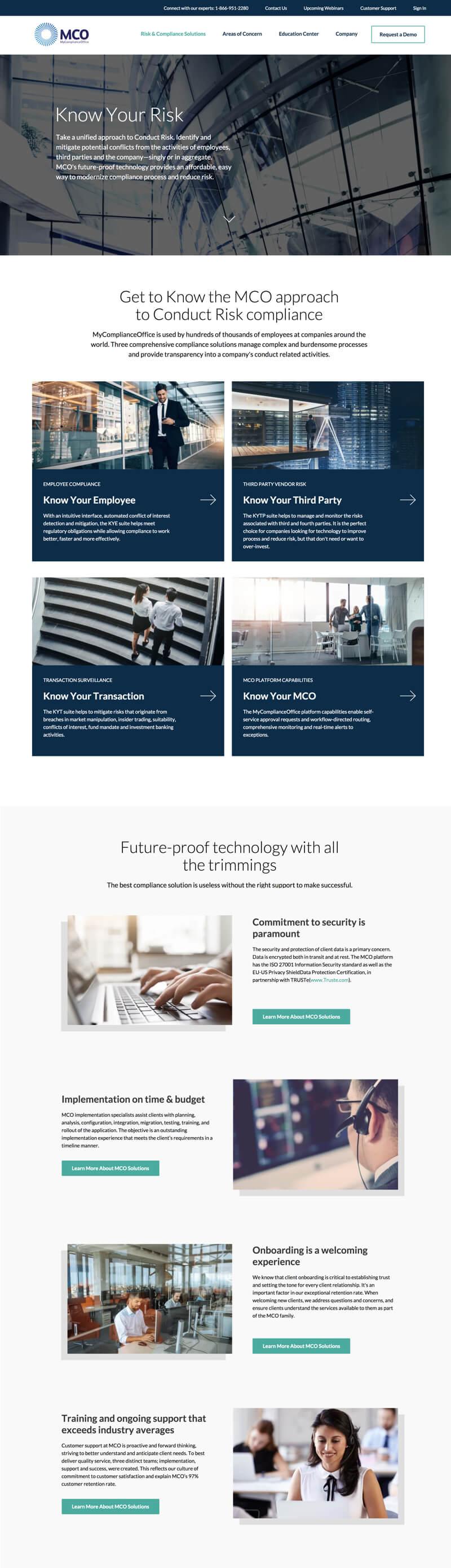 MyComplianceOffice web design ux