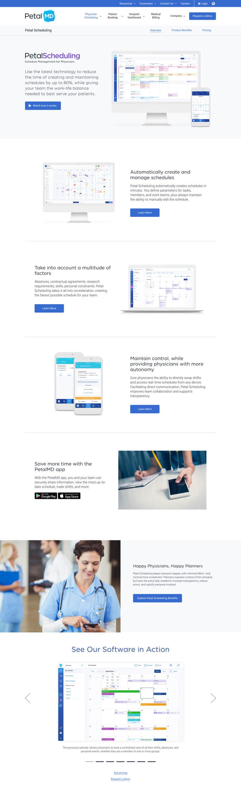 PetalMD web design ux