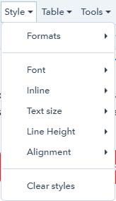 clear styles screenshot