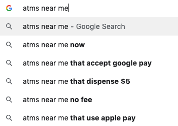 ATMs Near Me Google Search - Why Local SEO Is Essential for Financial Companies