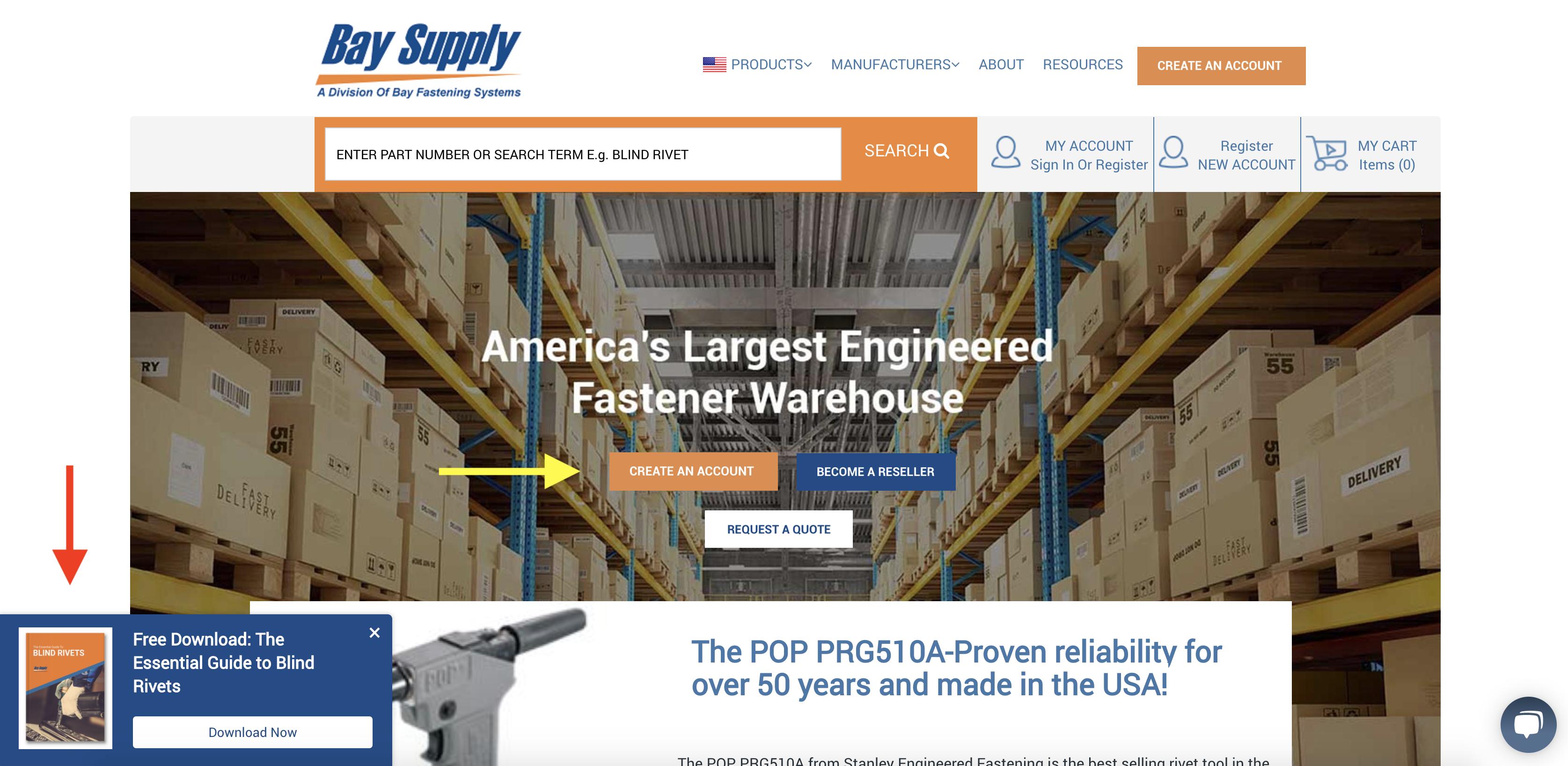 Bay Supply Manufacturing CTAs