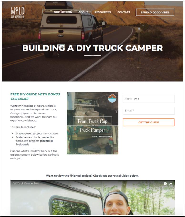 Wild We Wander - Building a DIY truck camper
