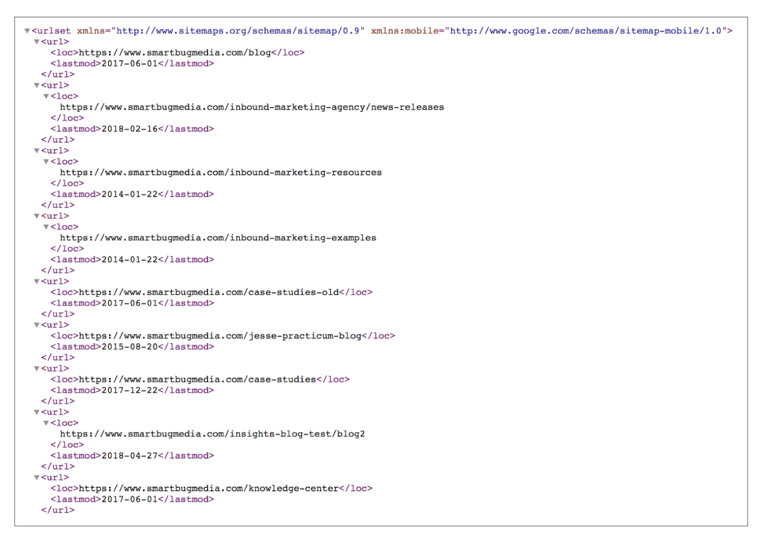 sitemap in search console