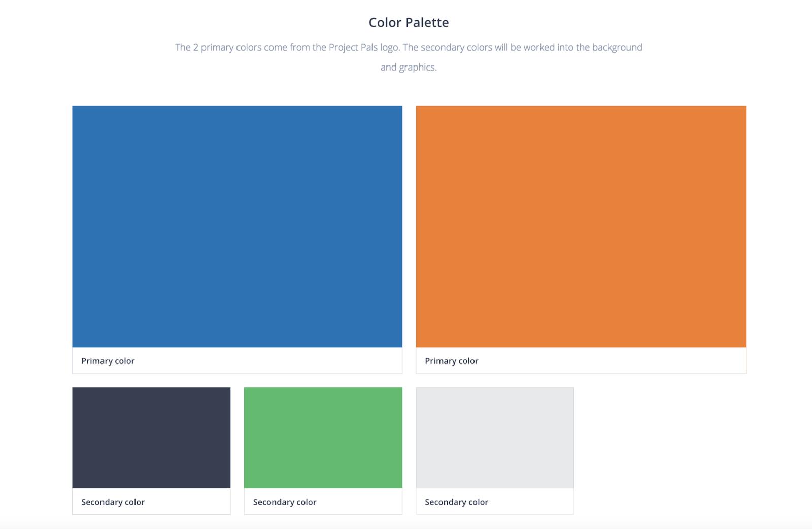 color palette mood board