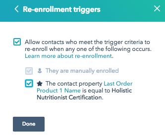 re-enrollment triggers