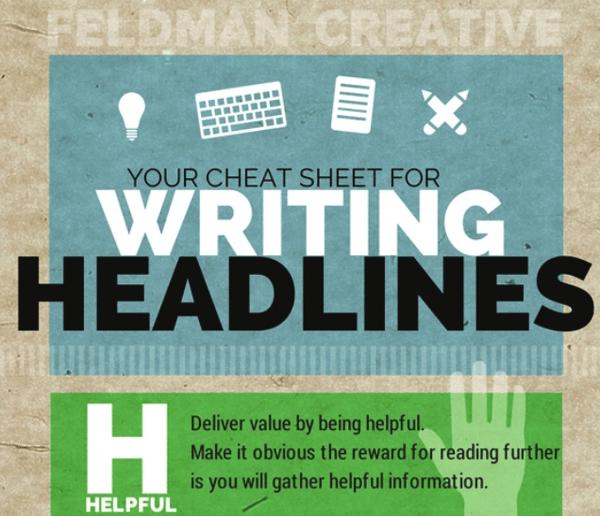 Your cheat sheet for writing headlines via Feldman Creative