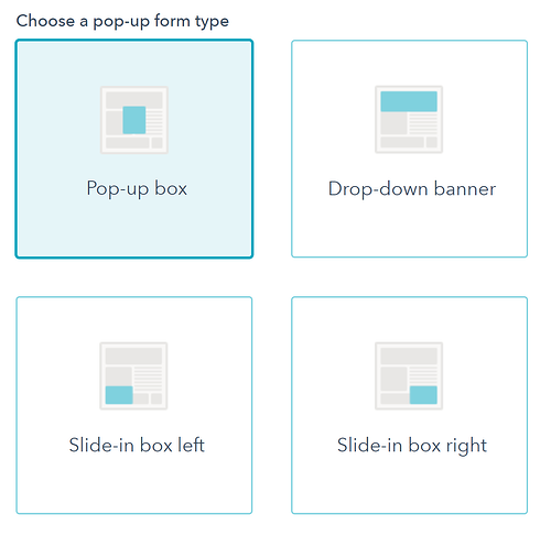 pop-up-form-types