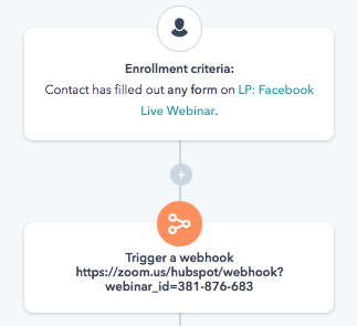 workflow hubspot zoom webinar blog first two steps