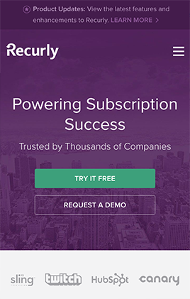 Recurly mobile