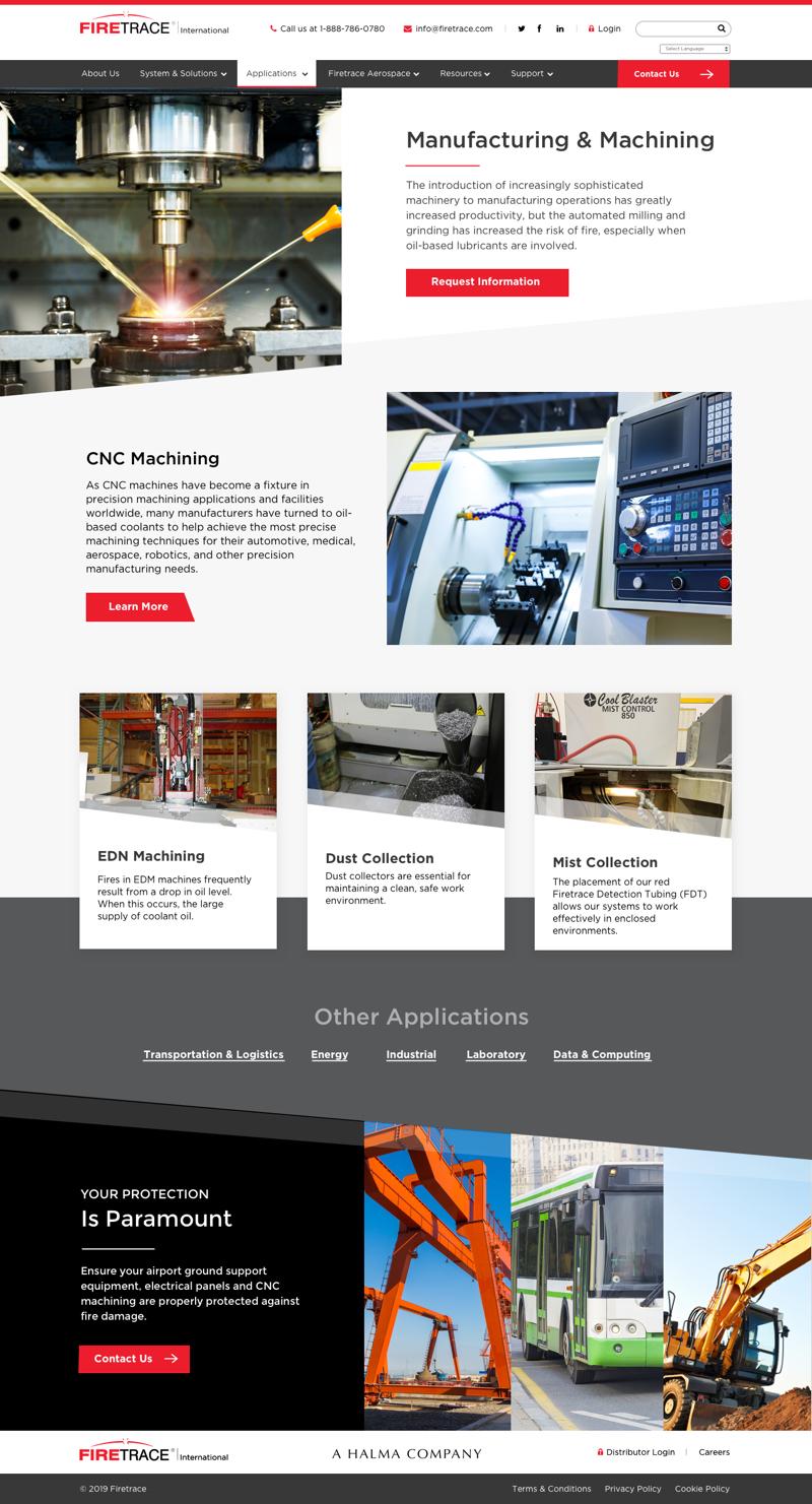 Firetrace Website Internal Page 1