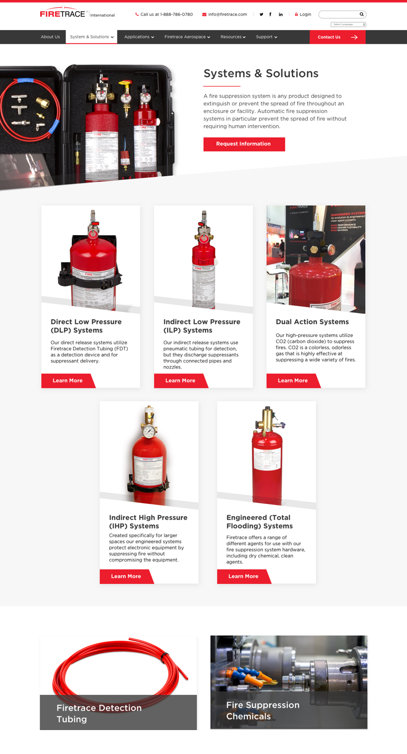 Website Internal Design Firetrace 2