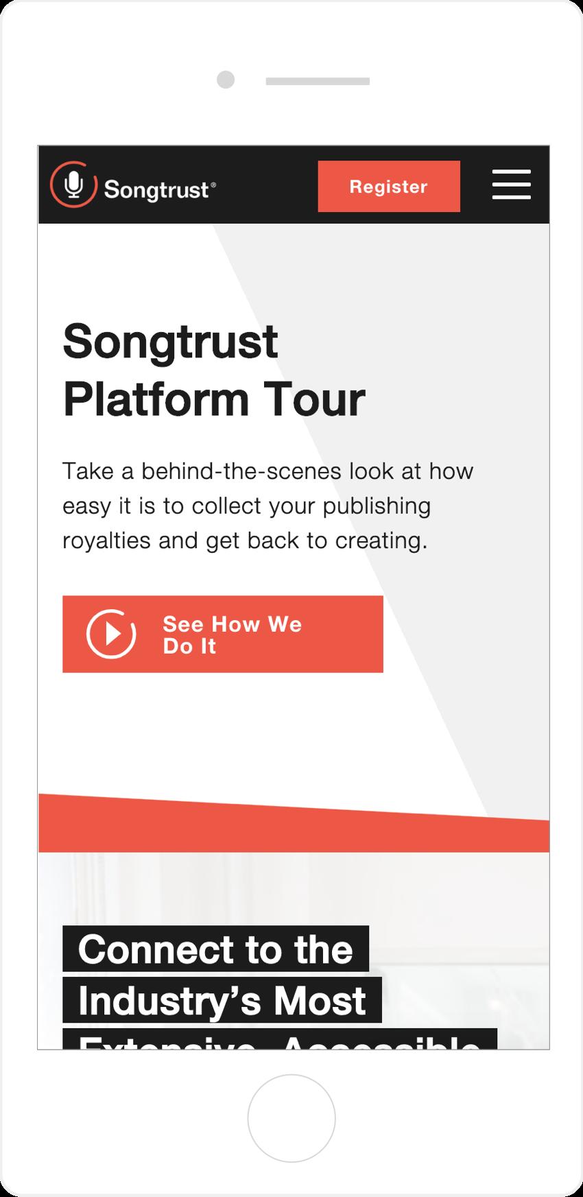 Mobile Responsive Website Songtrust
