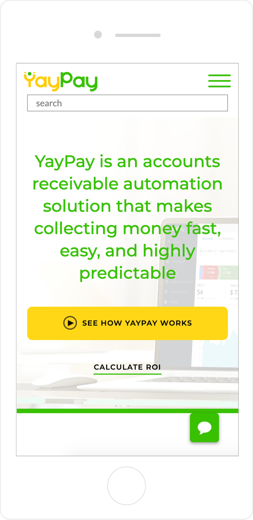Mobile Responsive Website YayPay Homepage