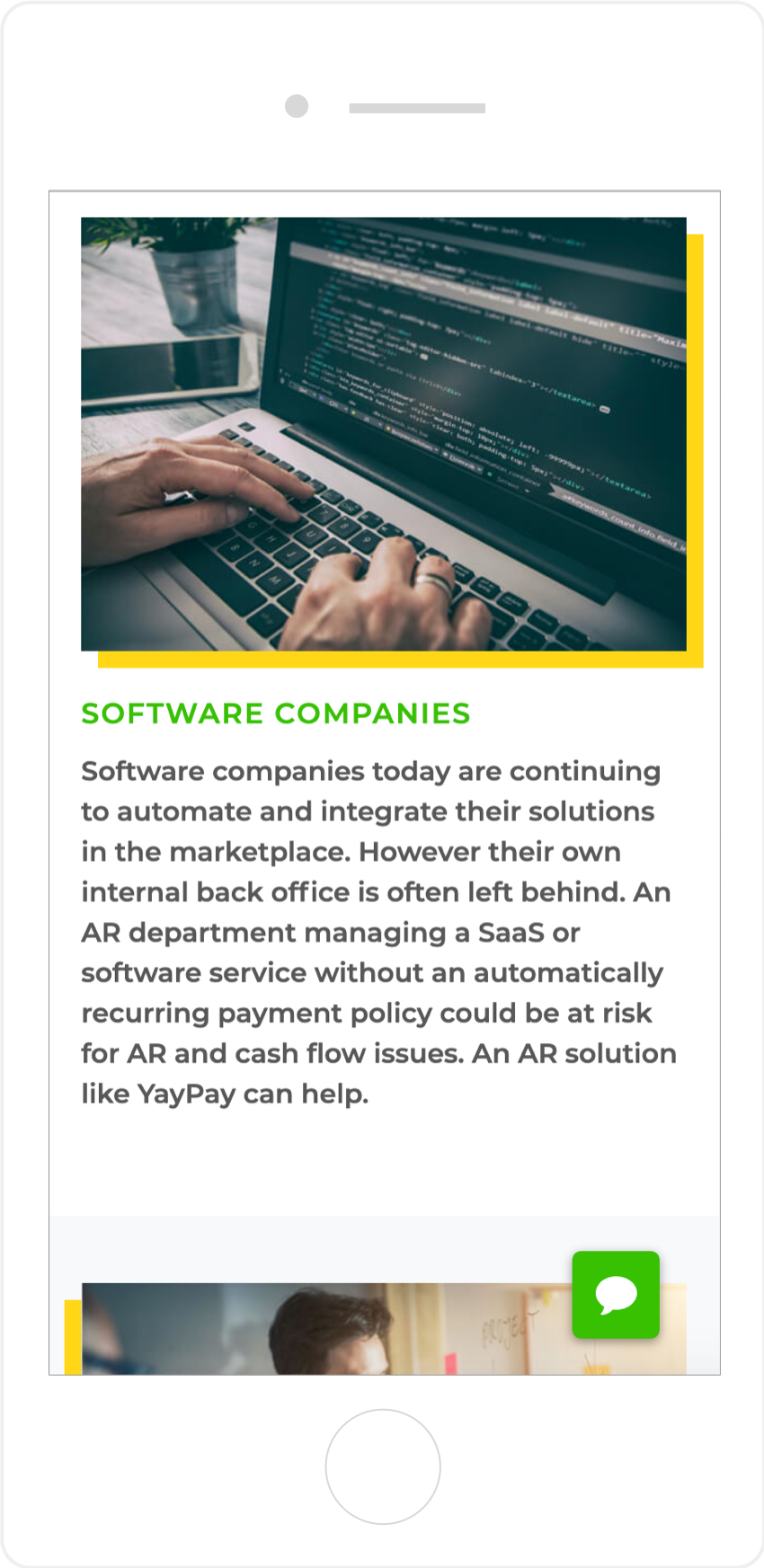 Mobile Responsive YayPay Interior Page