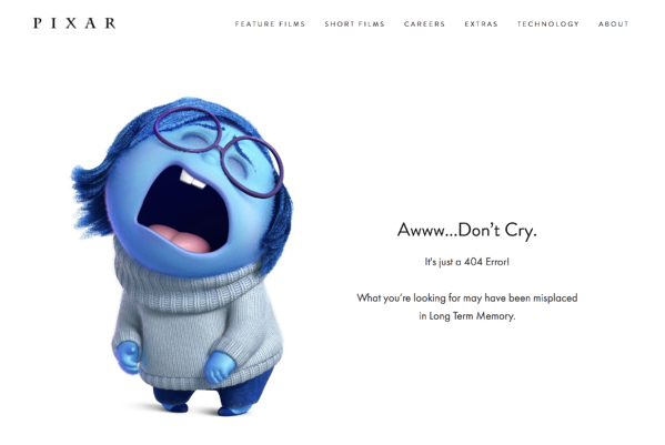 Pixar 404 error page