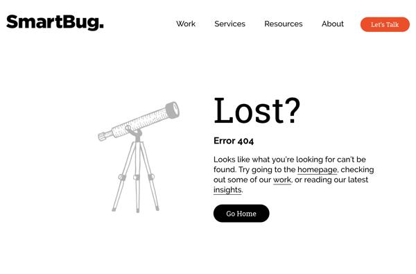 SmartBug Media 404 error page