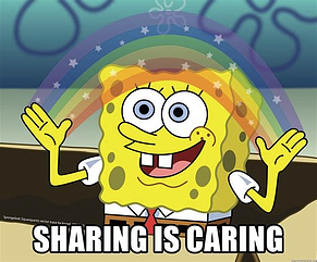 SpongeBob Sharing is Caring