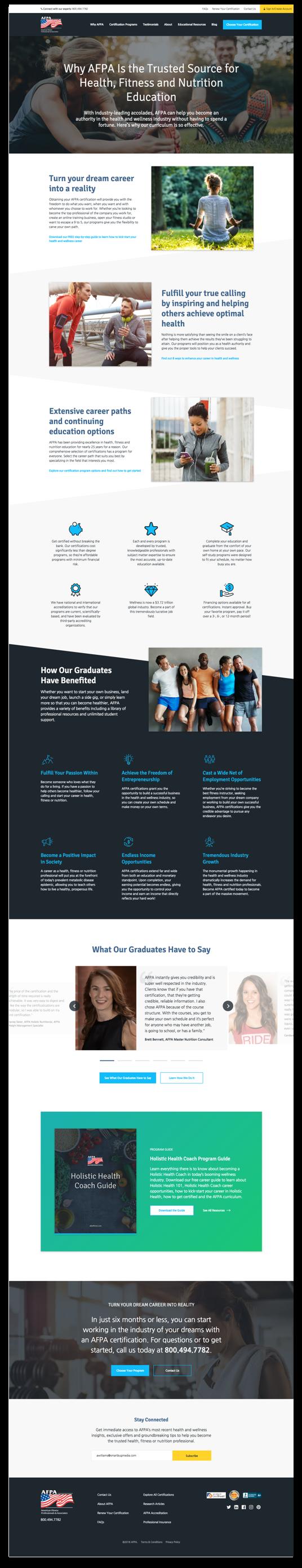 AFPA web design ux