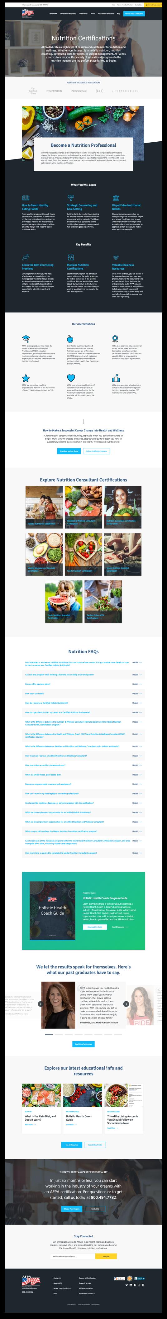 AFPA website design