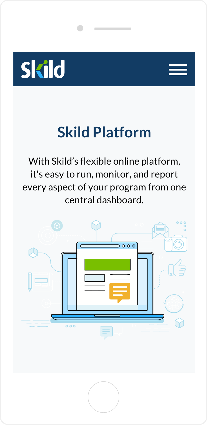 Skild mobile web design