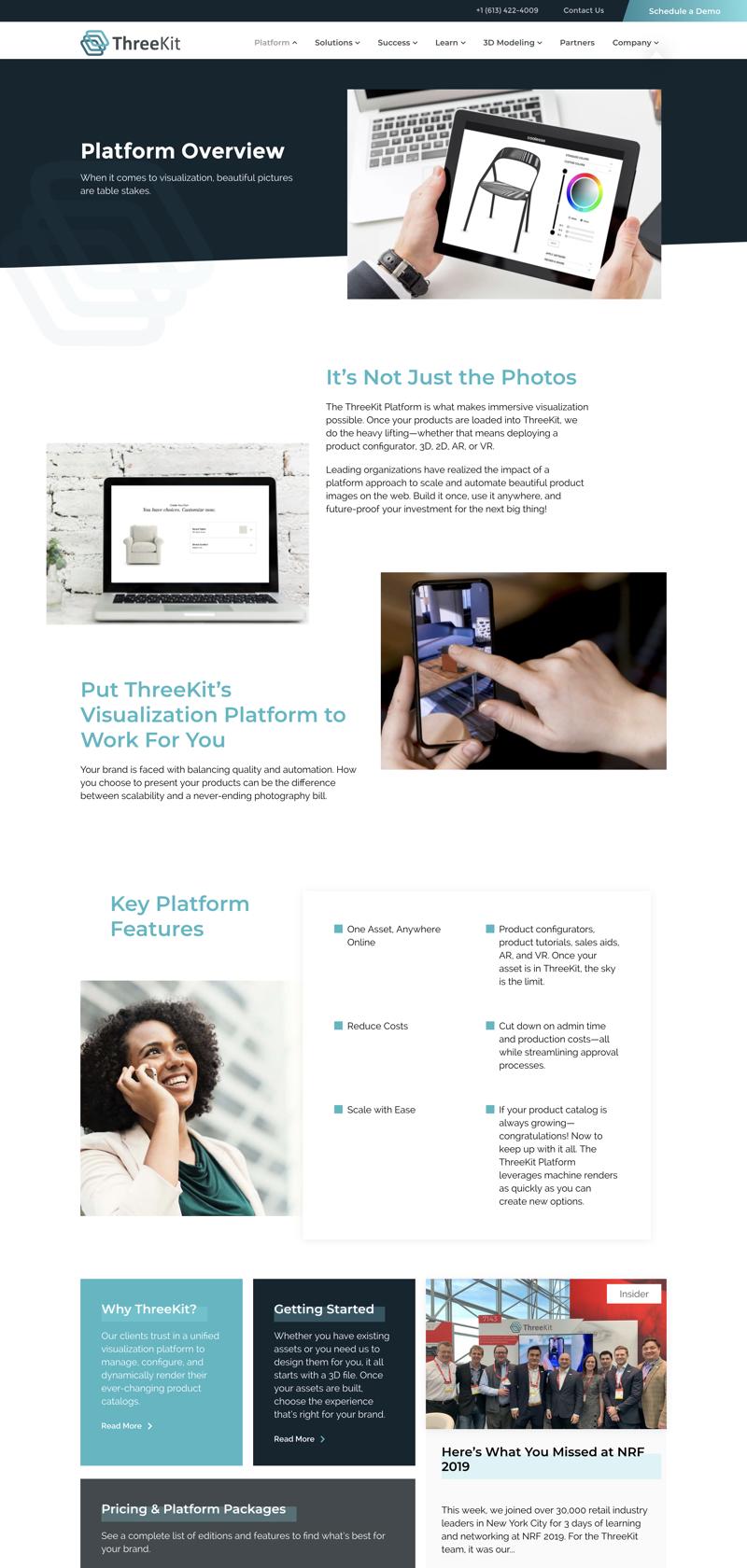 ThreeKit web design ux