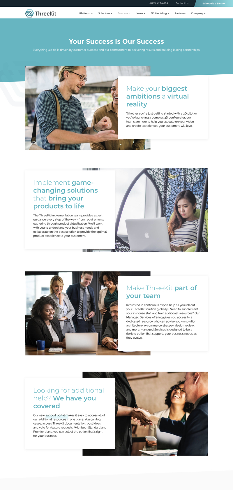ThreeKit website design