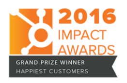 HubSpot Impact Award Grand Prize Winner - Happiest Customers