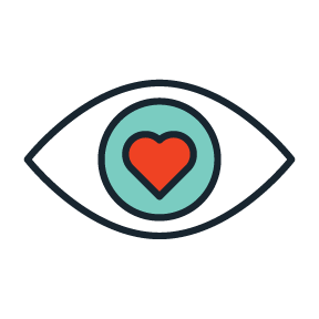 Influence heart eye icon