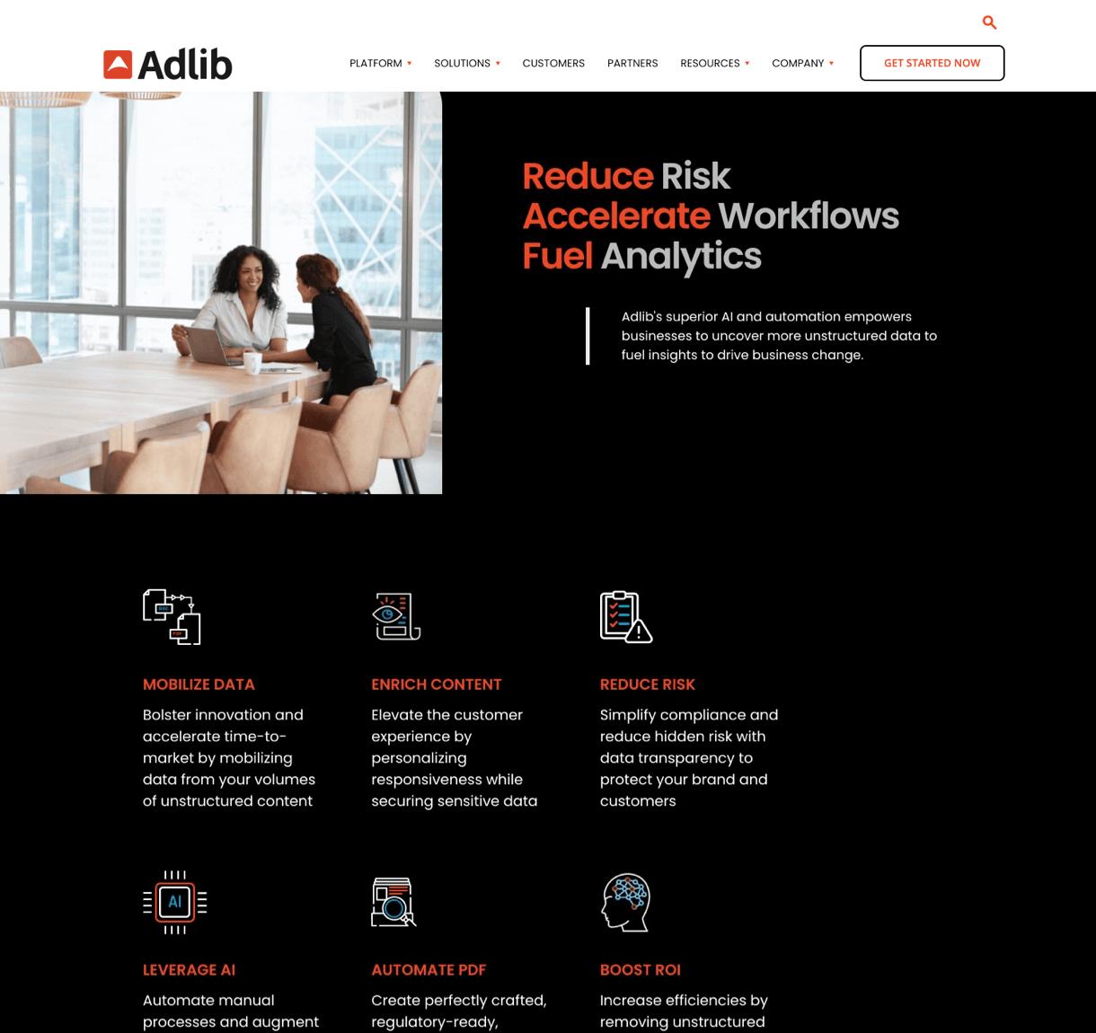 Adlib's Website UX