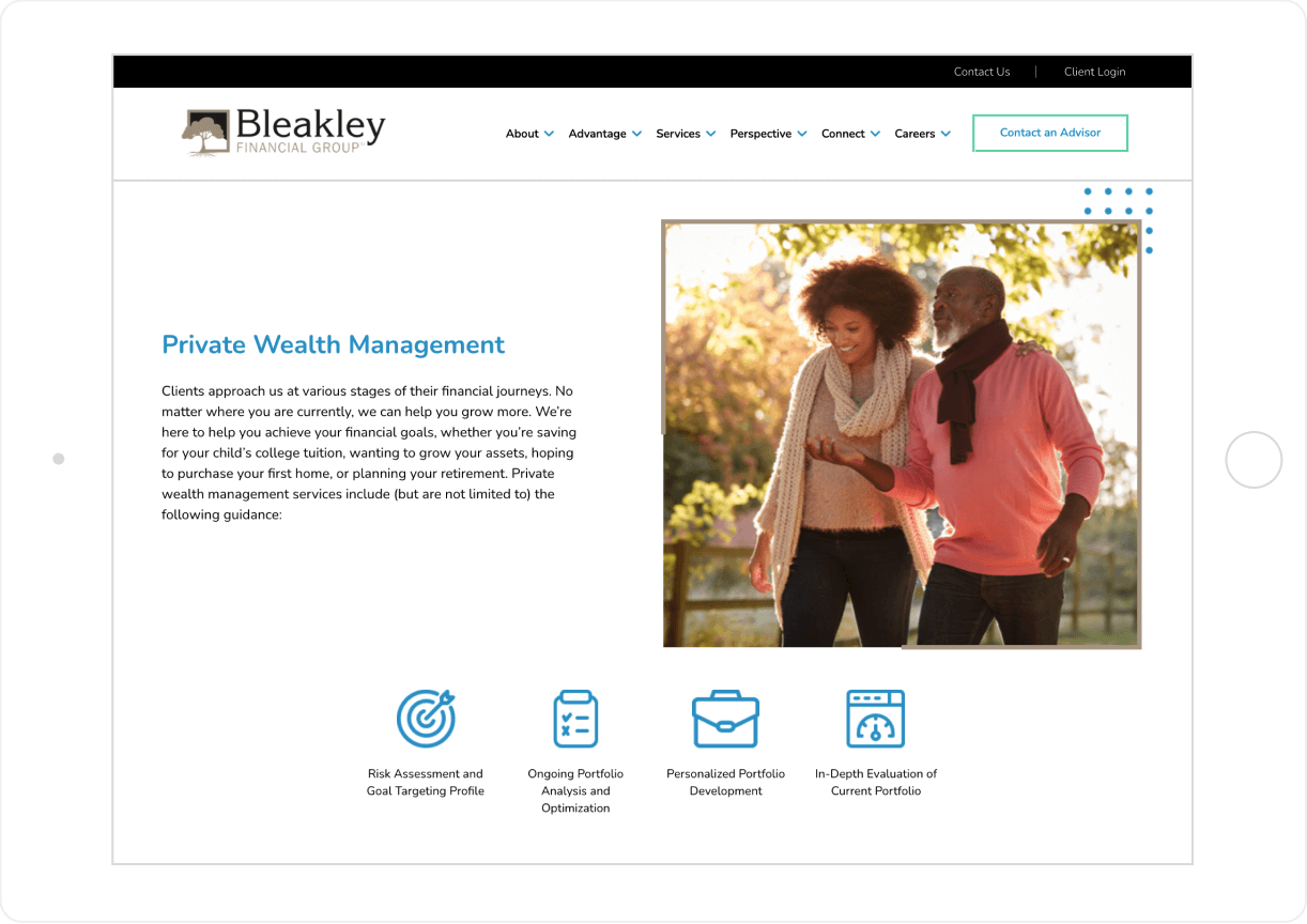 Bleakley Financial Streamlined Content