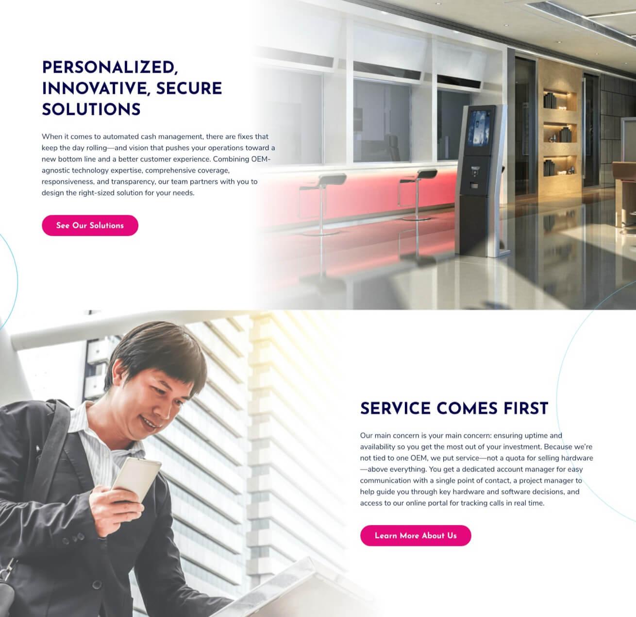 Burroughs Website Design
