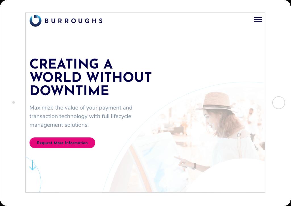 Burroughs Website Tablet View