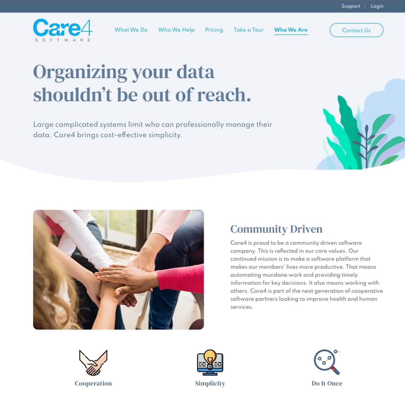 Care4Software Website Descriptions