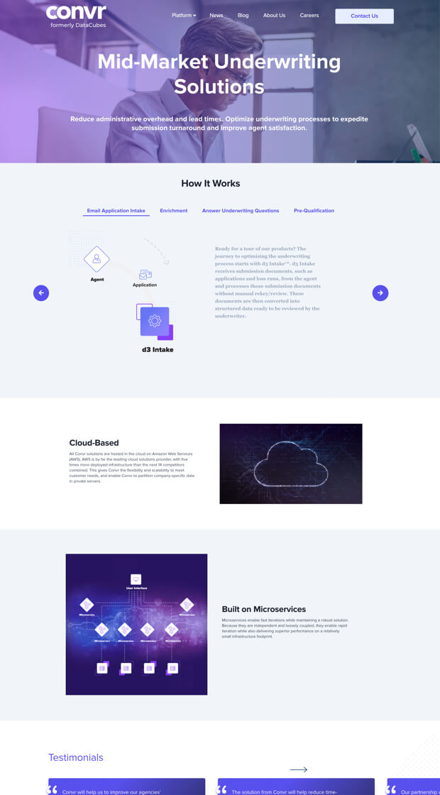 Convr Website Template
