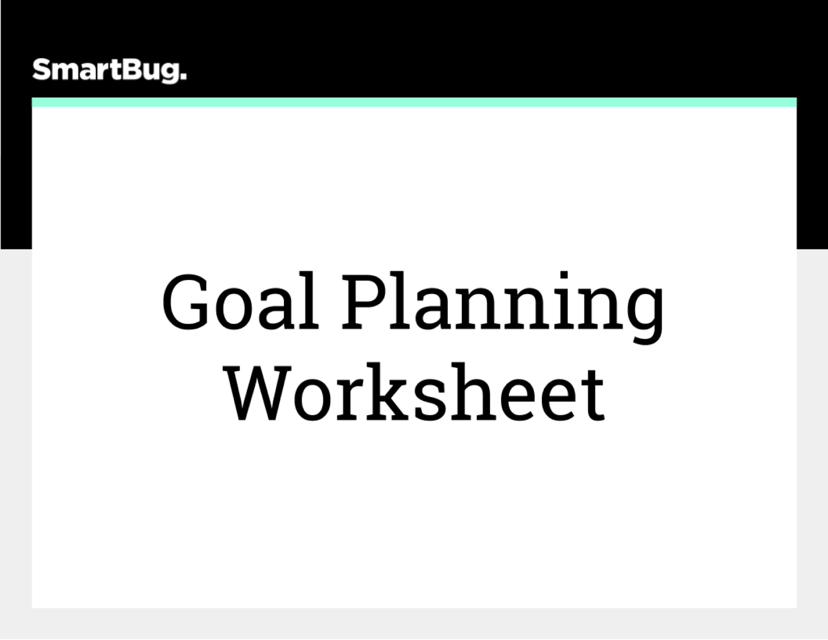 Goal Planning Worksheet (COVER)