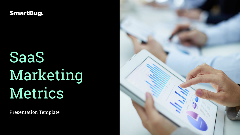 SaaS Marketing Metrics Presentation Template (COVER)