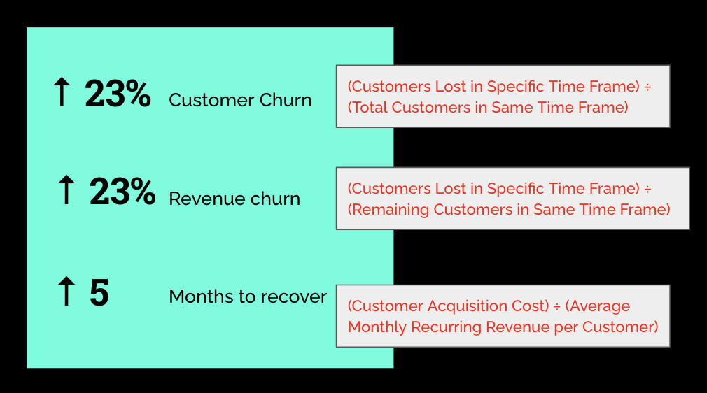 Customer and revenue churn metrics