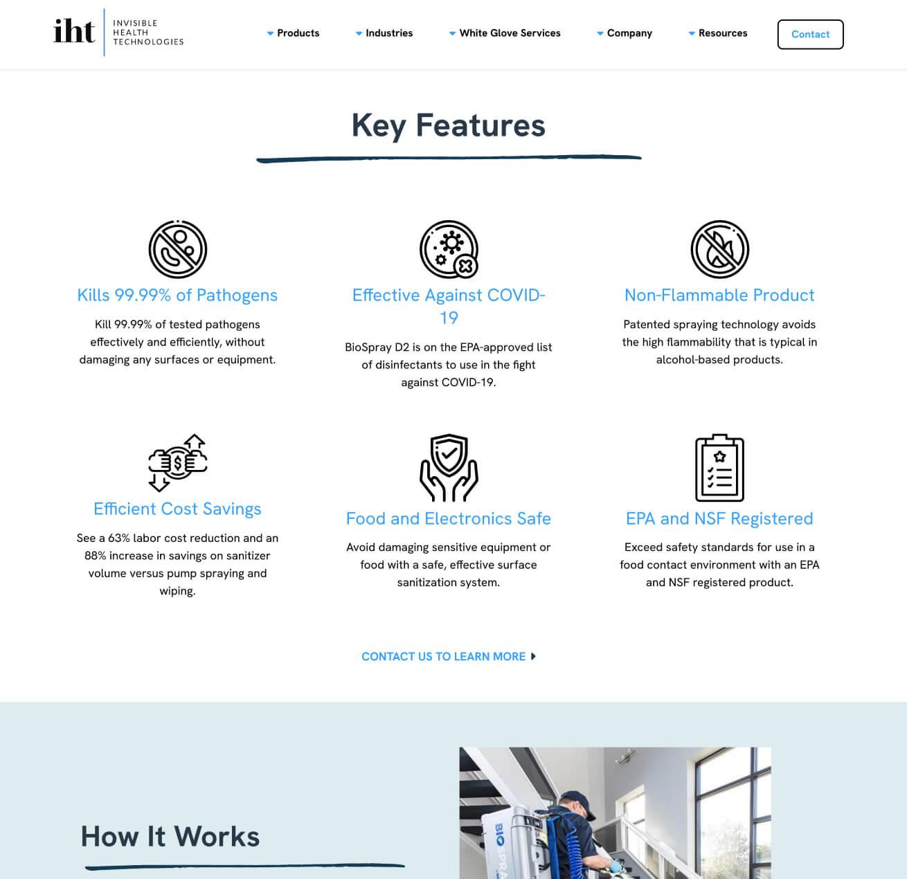 IHT Clean Website Design