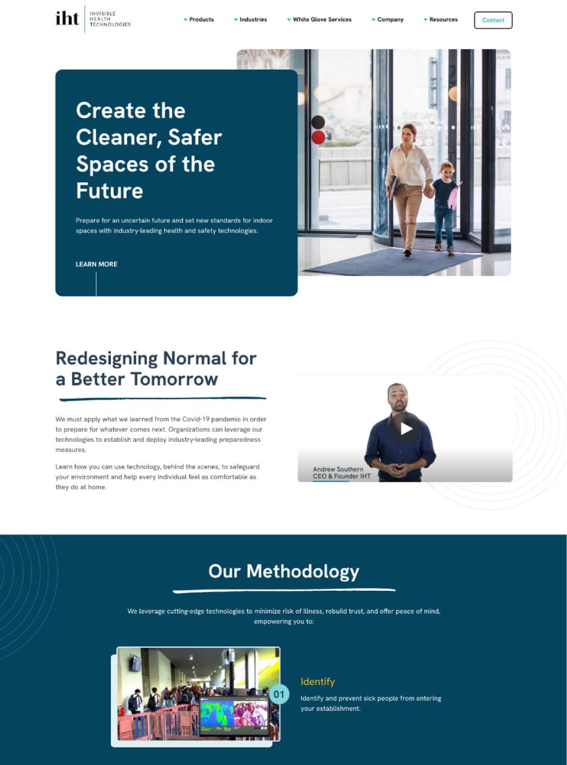 Invisible Health Technologies Website Desktop View
