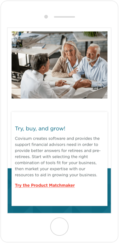 Covisum Concise Content on Mobile