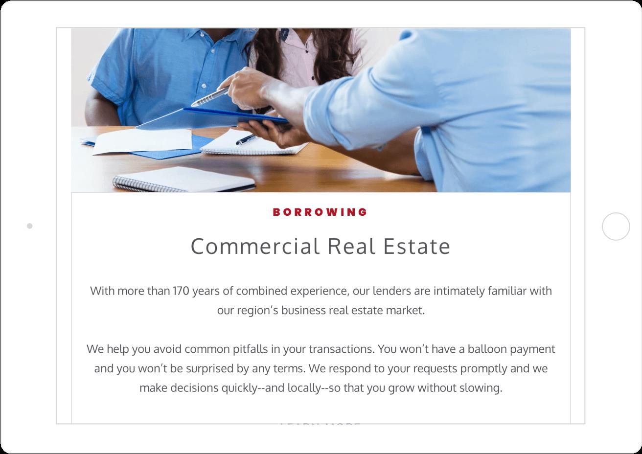 Crews Bank Corp Website Copy