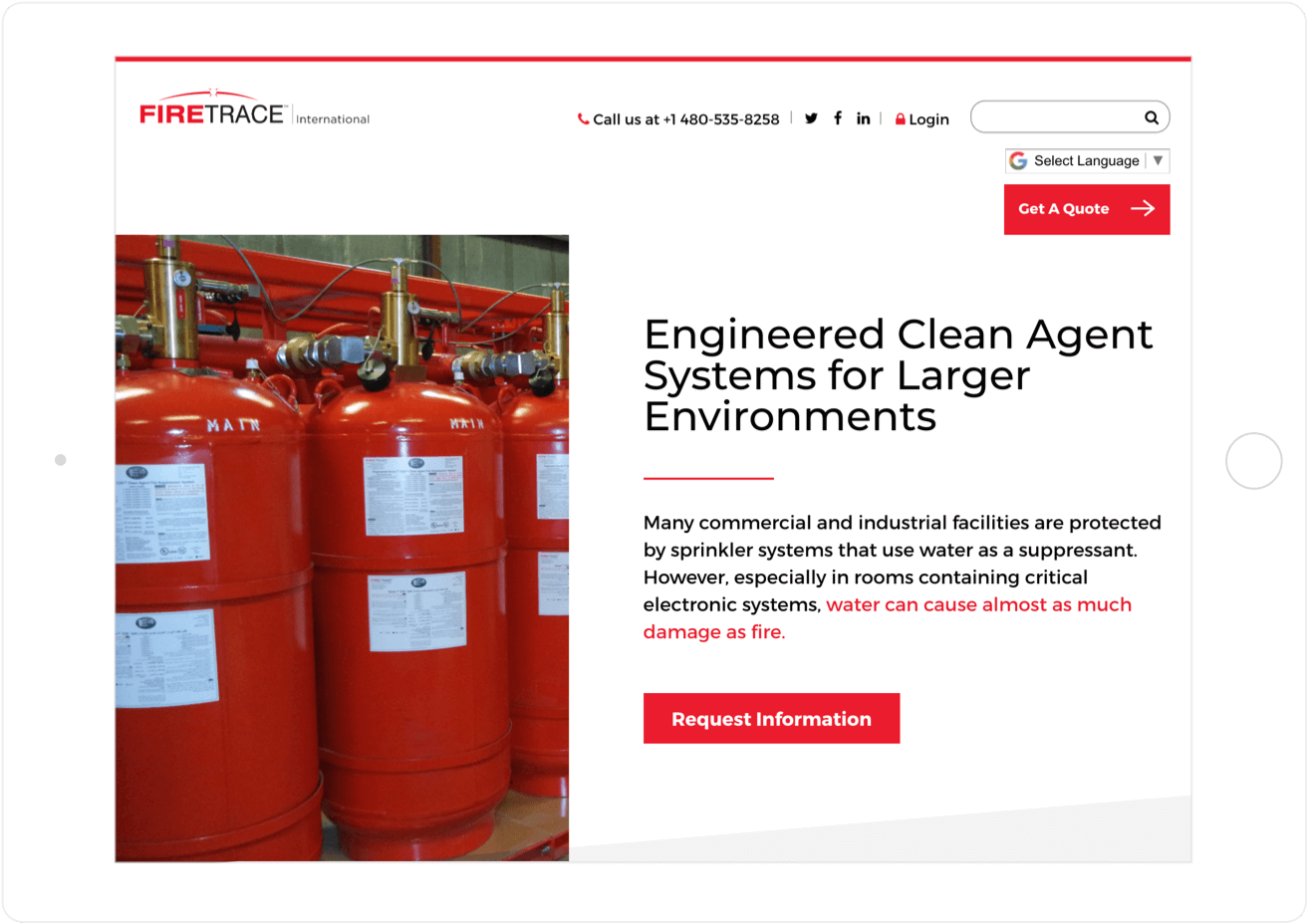 Firetrace cleaner, brighter website