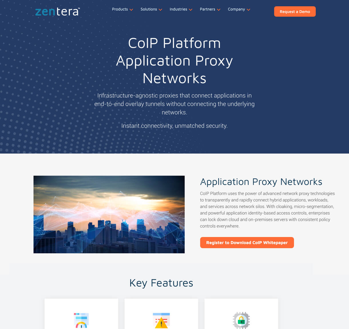 Zentera web design desktop