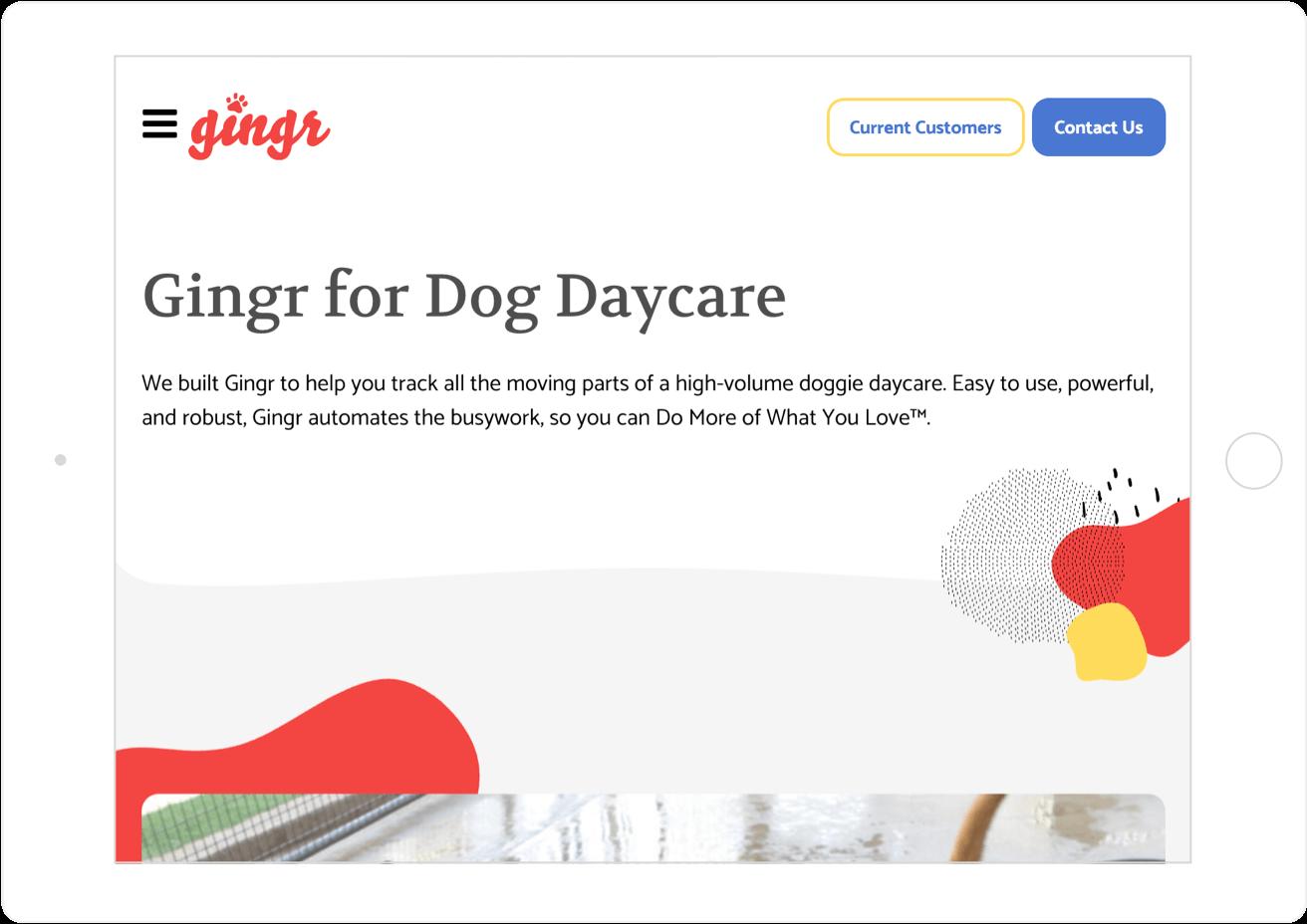 Gingr Responsive Website