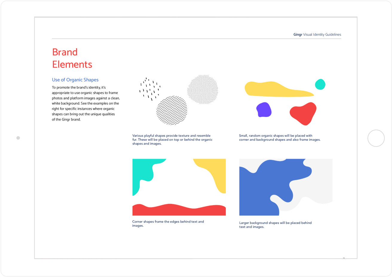 Gingr Brand Elements