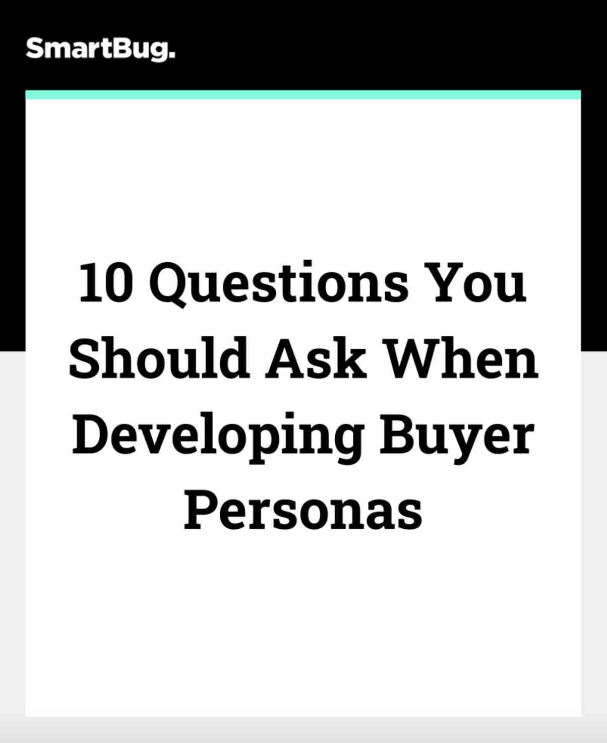Questions to ask your buyer persona